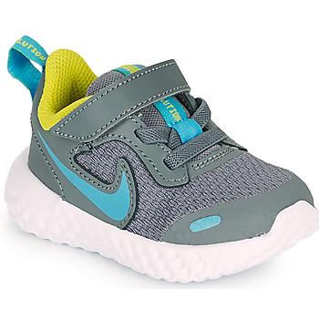 Sapatos Rapaz Multi-desportos Nike REVOLUTION 5 TD Cinza / Azul