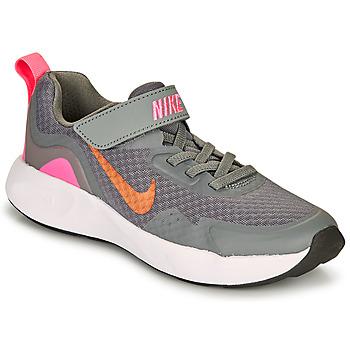 Sapatos Rapariga Multi-desportos Nike WEARALLDAY PS Cinza / Rosa