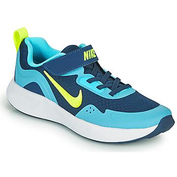 Sapatos Rapaz Multi-desportos Nike WEARALLDAY PS Azul / Verde