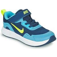 Sapatos Rapaz Multi-desportos Nike WEARALLDAY TD Azul / Verde