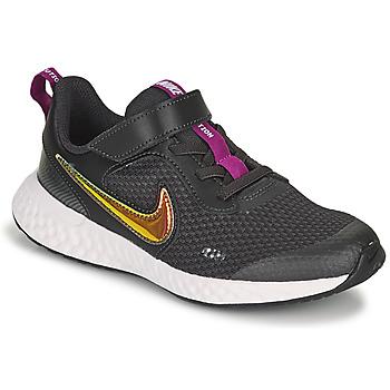 Sapatos Rapariga Sapatilhas Nike REVOLUTION 5 SE PS Preto
