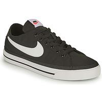 Sapatos Homem Sapatilhas Nike NIKE COURT LEGACY CANVAS Preto / Branco