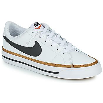 Sapatos Criança Sapatilhas Nike NIKE COURT LEGACY Branco / Preto