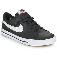 Sapatos Criança Sapatilhas Nike NIKE COURT LEGACY Preto / Branco