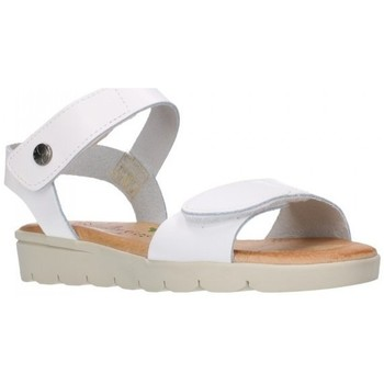 Sapatos Rapariga Sandálias Valeria's 6404 BLANCO PLANTA CUERO Niña Blanco blanc