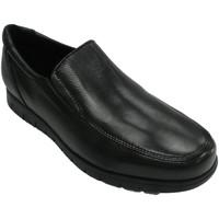 Sapatos Homem Mocassins Bartty Sapato masculino liso com sola larga Bar negro