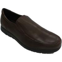 Sapatos Homem Mocassins Bartty Sapato masculino liso com sola larga Bar marrón