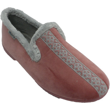 Sapatos Mulher Chinelos Muro Chinelos femininos fechados com borda do rosa