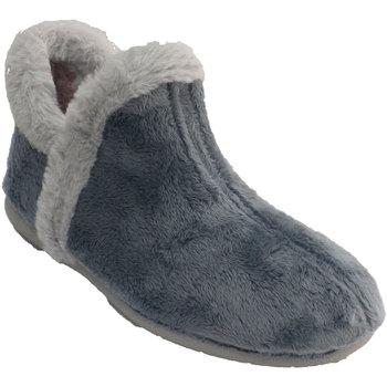 Sapatos Mulher Chinelos Muro Botas femininas de cano curto com pelo a azul