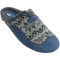 Sapatos Mulher Chinelos Muro Chinelos femininos abertos na parte de t azul