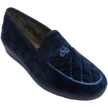 Sapatos Mulher Chinelos Aguas Nuevas Tênis feminino fechado com bordado no pe azul
