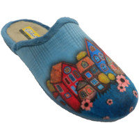 Sapatos Mulher Chinelos Aguas Nuevas Mulher flip-flops abrindo atrás de casas azul