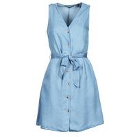 Textil Mulher Vestidos curtos Vero Moda VMVIVIANA Azul / Claro