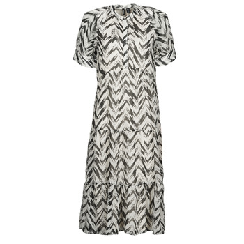 Textil Mulher Vestidos compridos Vero Moda VMKATHRINE Branco / Preto