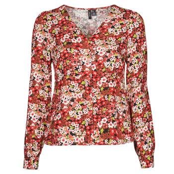 Textil Mulher camisas Vero Moda VMSIMPLY EASY Vermelho