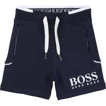 Textil Rapaz Shorts / Bermudas BOSS NOLLA Marinho