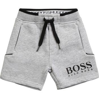 Textil Rapaz Shorts / Bermudas BOSS J04M57-A32-B Cinza