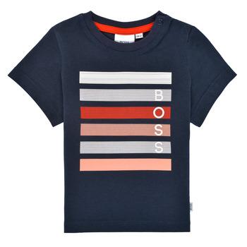 Textil Rapaz T-Shirt mangas curtas BOSS ENOLITO Marinho