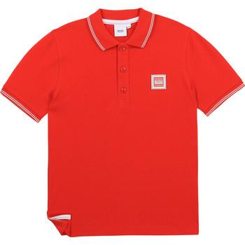 Textil Rapaz Polos mangas curta BOSS BARBORA Vermelho