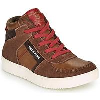 Sapatos Rapaz Sapatilhas de cano-alto Redskins LAVAL KID Castanho / Vermelho