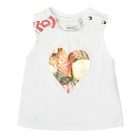 Textil Rapariga Tops sem mangas Ikks XS10030-19 Branco