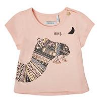 Textil Rapariga T-Shirt mangas curtas Ikks XS10100-32 Rosa