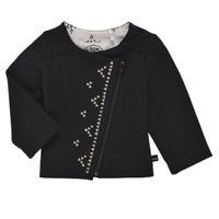 Textil Rapariga Casacos de malha Ikks XS17020-02 Preto