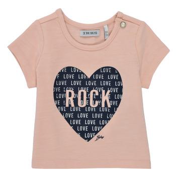 Textil Rapariga T-Shirt mangas curtas Ikks XS10120-31 Rosa