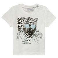 Textil Rapaz T-Shirt mangas curtas Ikks XS10161-19 Branco