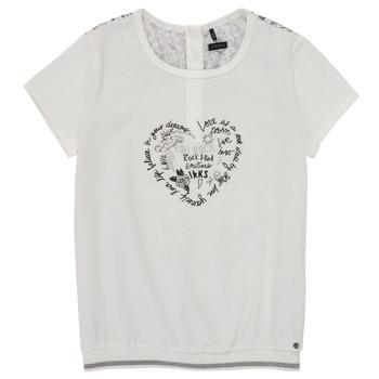 Textil Rapariga T-Shirt mangas curtas Ikks XS10242-19-J Branco