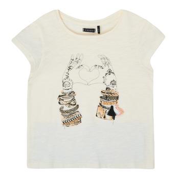 Textil Rapariga T-Shirt mangas curtas Ikks XS10002-11-C Branco