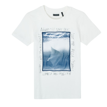 Textil Rapaz T-Shirt mangas curtas Ikks XS10033-19-C Branco