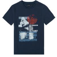 Textil Rapaz T-Shirt mangas curtas Ikks XS10013-48-C Marinho