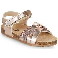 Sapatos Rapariga Sandálias Mod'8 KOENIA Rosa / Ouro