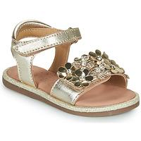Sapatos Rapariga Sandálias Mod'8 PARLOTTE Ouro