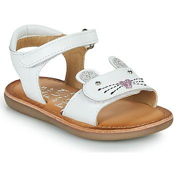 Sapatos Rapariga Sandálias Mod'8 CLOONIE Branco