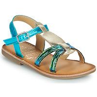 Sapatos Rapariga Sandálias Mod'8 CALICOT Turquesa / Ouro