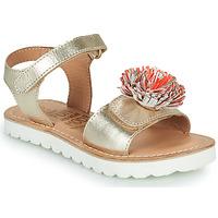 Sapatos Rapariga Sandálias Mod'8 JELLINE Ouro / Coral