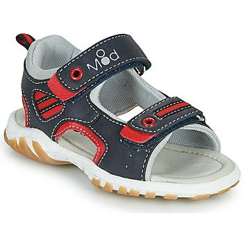 Sapatos Rapaz Sandálias Mod'8 TOPPY Marinho / Vermelho
