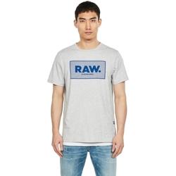 Textil Homem T-Shirt mangas curtas G-Star Raw D16375-336-A302 IT GREY HTR Gris
