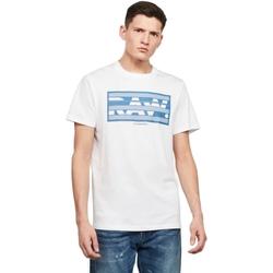Textil Homem T-Shirt mangas curtas G-Star Raw D17106-336-110 WHITE Blanco