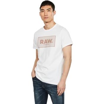 Textil Homem T-Shirt mangas curtas G-Star Raw D16375-336-110 WHITE Blanco