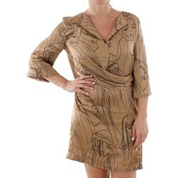 Textil Mulher Vestidos curtos Sandro Ferrone ZANZARA CAMMELLO Marrón
