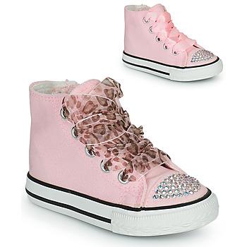 Sapatos Rapariga Sapatilhas de cano-alto Citrouille et Compagnie OUTIL Rosa