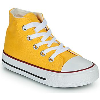 Sapatos Criança Sapatilhas de cano-alto Citrouille et Compagnie OUTIL Amarelo