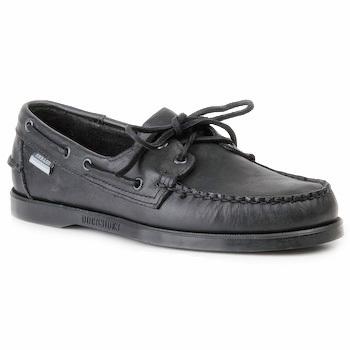 Sapatos Homem Sapato de vela Sebago DOCKSIDES Preto