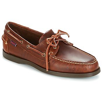 Sapatos Homem Sapato de vela Sebago DOCKSIDES Castanho
