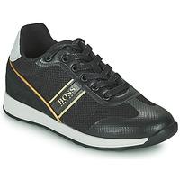 Sapatos Rapaz Sapatilhas BOSS TRAMMI Preto / Ouro