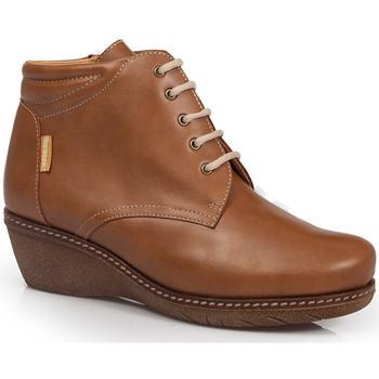 Sapatos Mulher Botins Calzamedi CALÇAMEDI 0711 MARRON