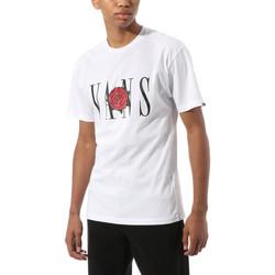 Textil T-Shirt mangas curtas Vans Kw classic rose s Branco